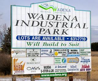 Wadena Industrial Park Sign